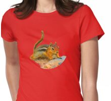 Dramatic Chipmunk Womens Fitted T-Shirt