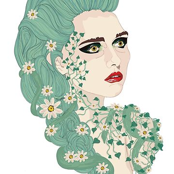 Antheia: Goddess of Flowers and Wreaths by gr-graphic
