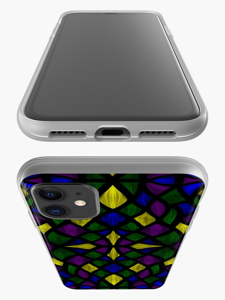 Alternate view of Stained Glass Scales iPhone Case & Cover