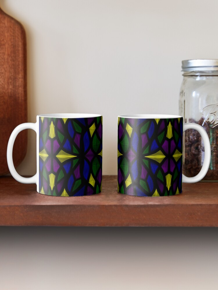 Alternate view of Stained Glass Scales Mug