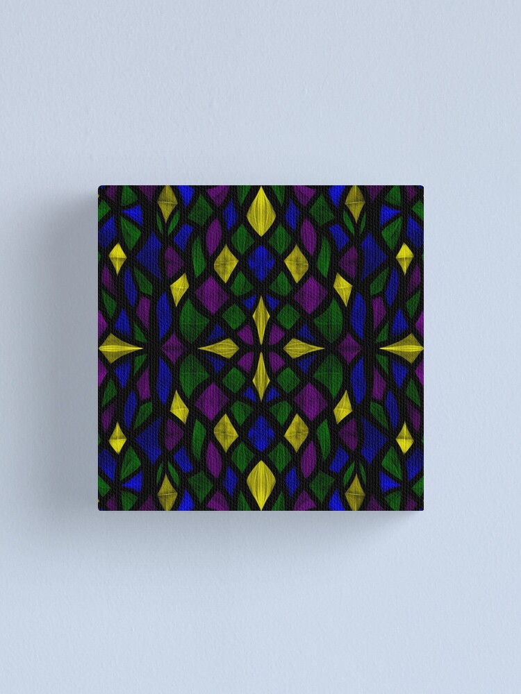 Alternate view of Stained Glass Scales Canvas Print