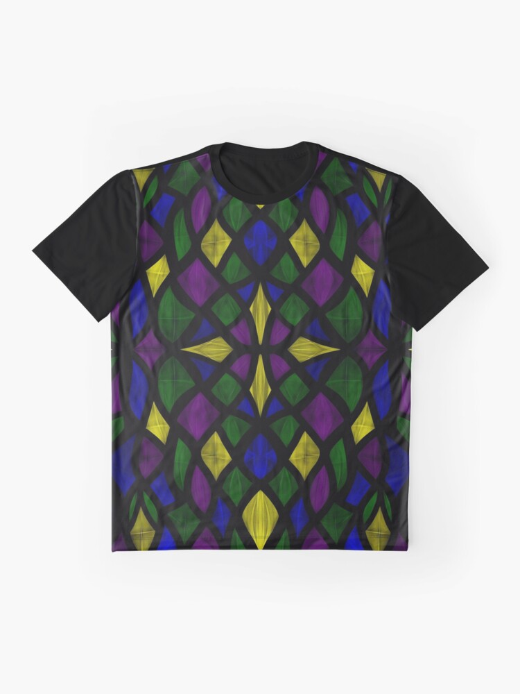 Alternate view of Stained Glass Scales Graphic T-Shirt