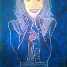 woman in blue WIP start by tim norman