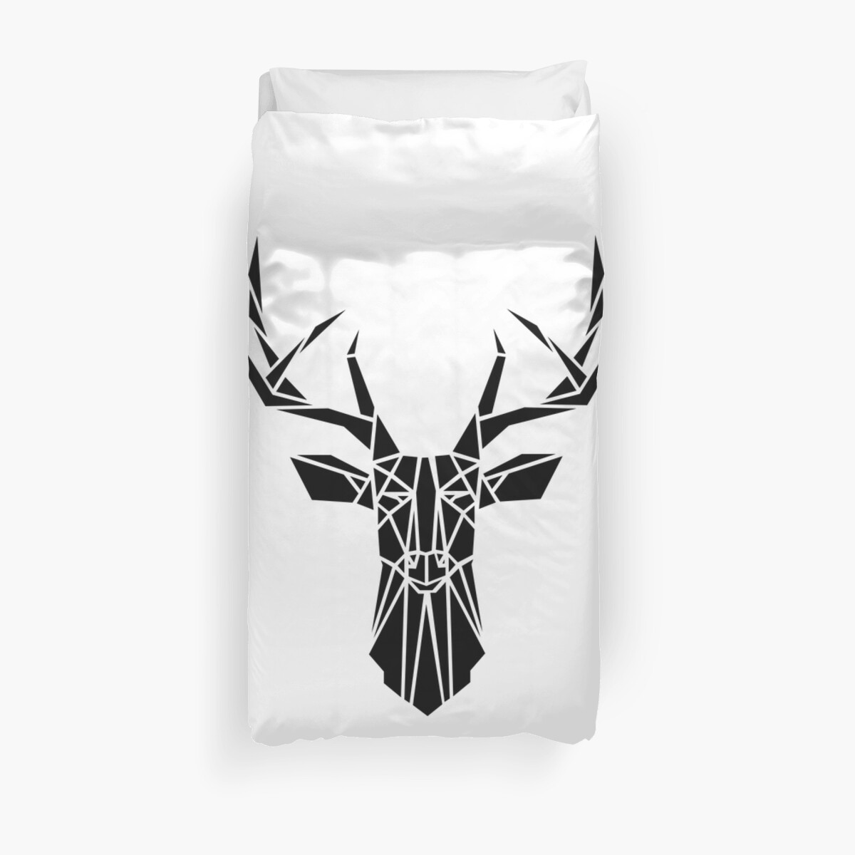 Geo Deer - Black by SingerNZ
