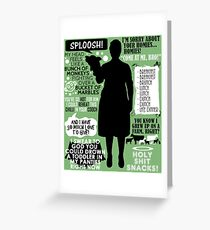 Archer - Pam Poovey Quotes Greeting Card