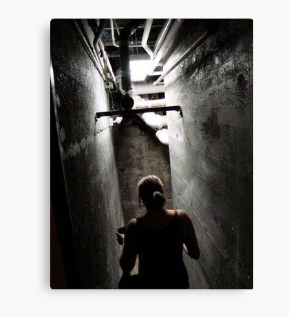 Creeping Down the Stairs Canvas Print