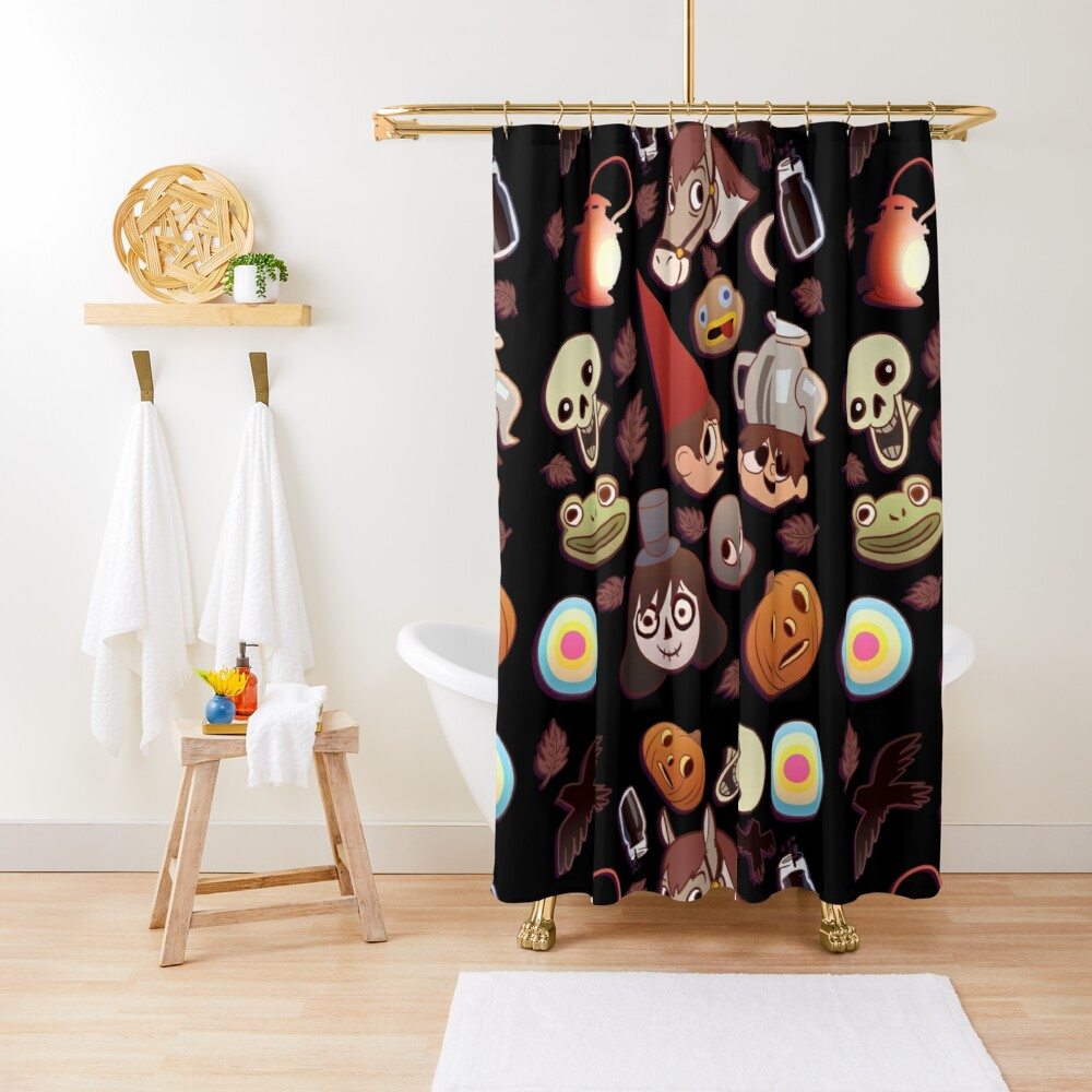 Over the Garden Wall Pattern Shower Curtain