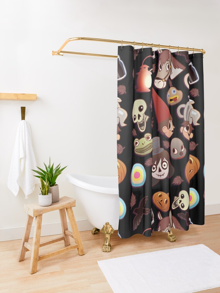 Alternate view of  Over the Garden Wall Pattern Shower Curtain