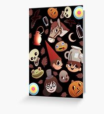 Over the Garden Wall Pattern Greeting Card