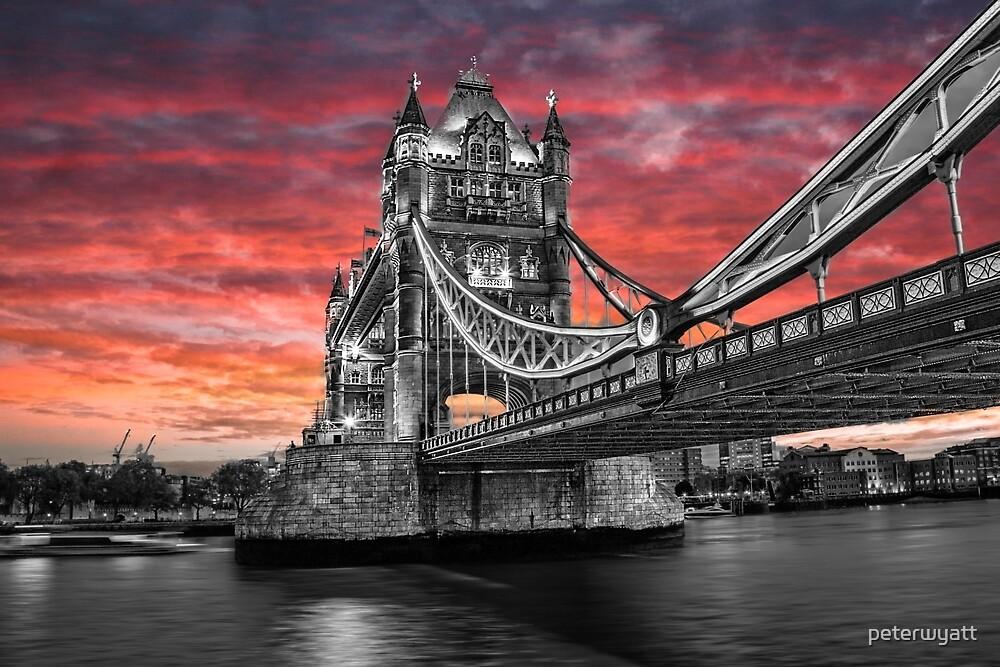 sunrise over the tower bridge by peter wyatt