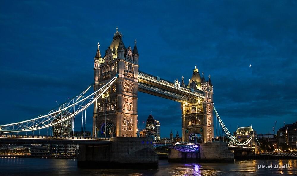 tower bridge at night by peter wyatt
