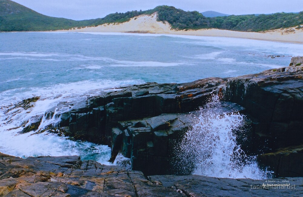 TASMAN PENINSULA ~ Crescent Beach by tasmanianartist by tasmanianartist