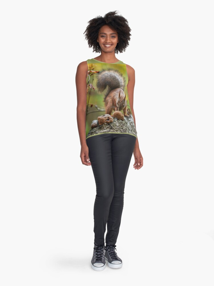 Alternate view of To eat or not. Eurasian red squirrel Sleeveless Top