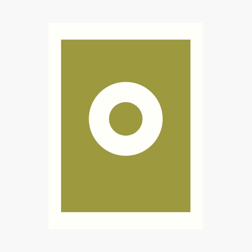 Circle (White Ring) Art Print