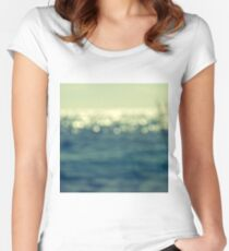 blurred light Women's Fitted Scoop T-Shirt