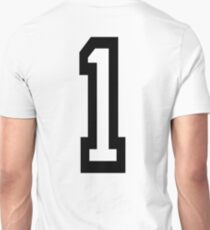 1, TEAM SPORTS, NUMBER 1, ONE, FIRST, Numero Uno, Uno, Ichi, Win, Winner, Competition T-Shirt