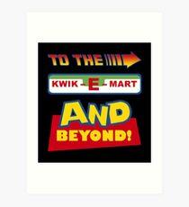 To The Kwik-E-Mart Art Print