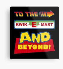 To The Kwik-E-Mart Metal Print