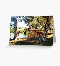 At the bend of the River - Werribee Vic. Australia Greeting Card