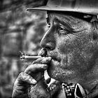 Enjoying A Smoke After Work  by Reza Gorji Hassani