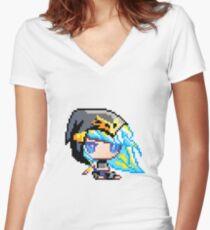 Chibi Ashe Women's Fitted V-Neck T-Shirt