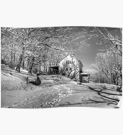 Blue Ridge Winter Poster