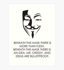 V For Vendetta Art Print