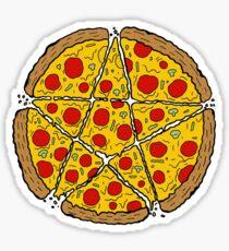 Satan Loves Pizza Sticker