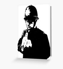 Banksy - Rude Copper Greeting Card