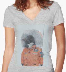 Antarctic Penguin Women's Fitted V-Neck T-Shirt
