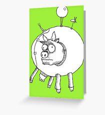 Bovine Transportation! Cows par avion ... Greeting Card