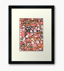 Psychedelic Retro Marbled Paper Pepe Psyche Framed Print