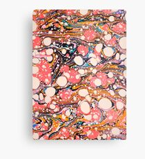 Psychedelic Retro Marbled Paper Pepe Psyche Metal Print