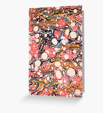 Psychedelic Retro Marbled Paper Pepe Psyche Greeting Card
