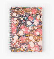 Psychedelic Retro Marbled Paper Pepe Psyche Spiral Notebook