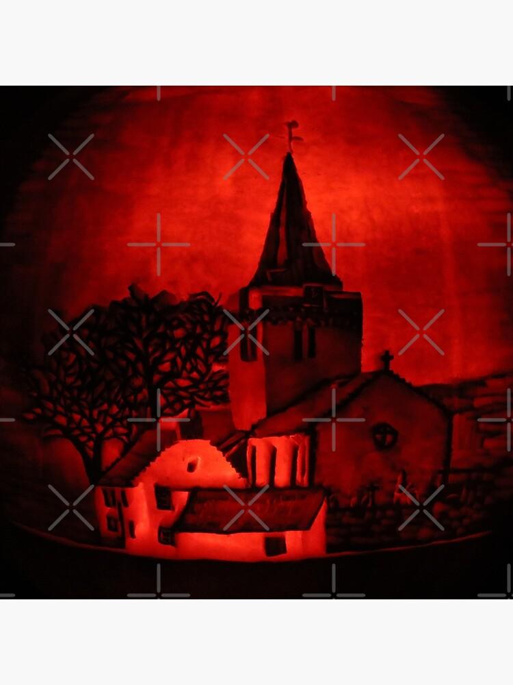Dreel Halls, Anstruther (Carved onto a Pumpkin) by MotiBlack