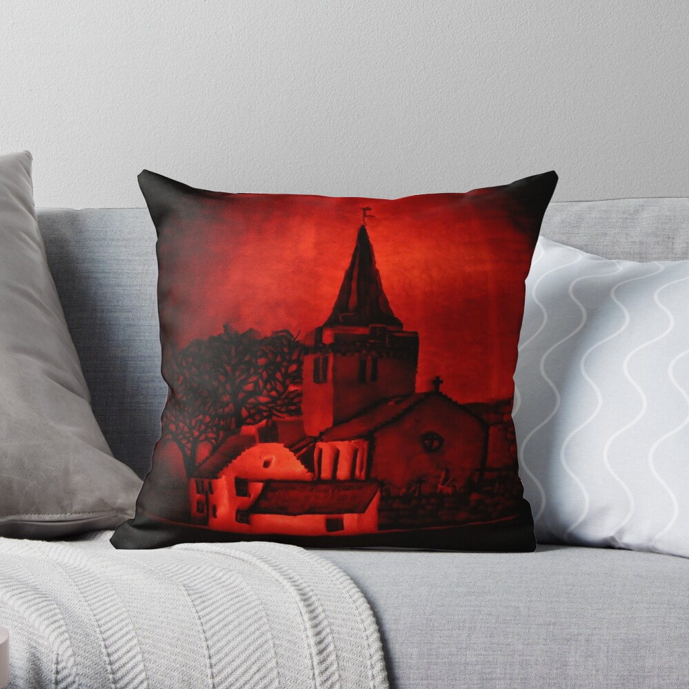 Dreel Halls, Anstruther (Carved onto a Pumpkin) Throw Pillow