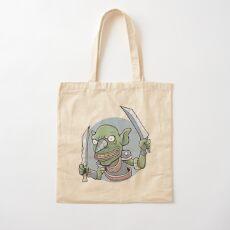 Drill Goblin Warrior Cotton Tote Bag