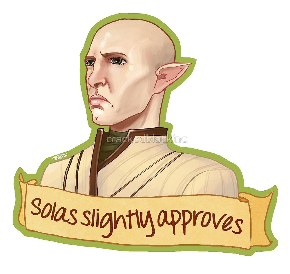 Solas Slightly Approves by crackedblackinc