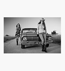 Kristel and Jessica Photographic Print