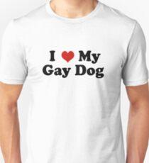 I Love My Gay Dog Slim Fit T-Shirt