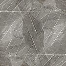 Natural Abstract Energy Grey Skeleton Leaf Layers Design from Jenny Meehan by Jenny Meehan