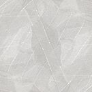 Natural Abstract Energy Lighter Grey Skeleton Leaf Layers Design from Jenny Meehan by Jenny Meehan