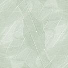 Natural Abstract Energy Light Soft Pastel Green Skeleton Leaf Layers Design by Jenny Meehan
