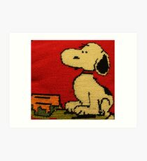 Hey Snoopy! Art Print
