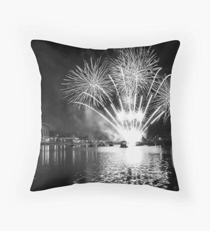 Australia Day 2011 - Elder Park, Adelaide SA Throw Pillow