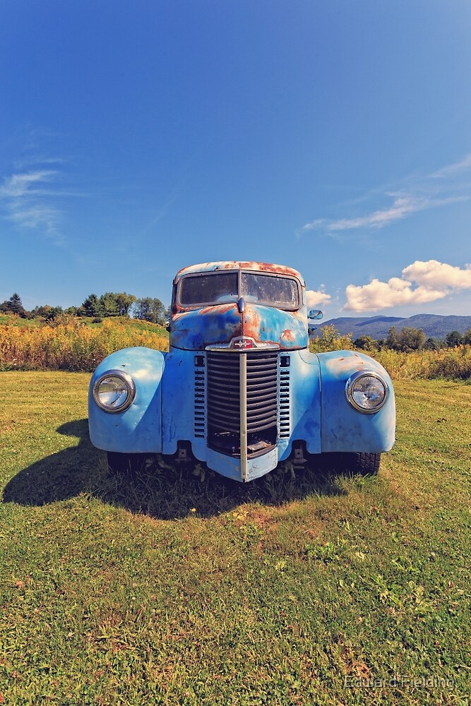 Old Blue Truck Vermont by Edward Fielding