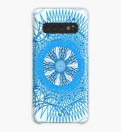 Blue Spirograph Case/Skin for Samsung Galaxy