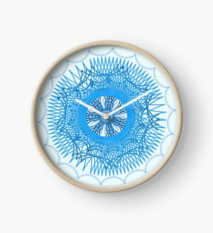 Blue Spirograph Clock