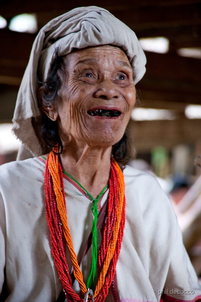 Happy Padaung Senior by phil decocco